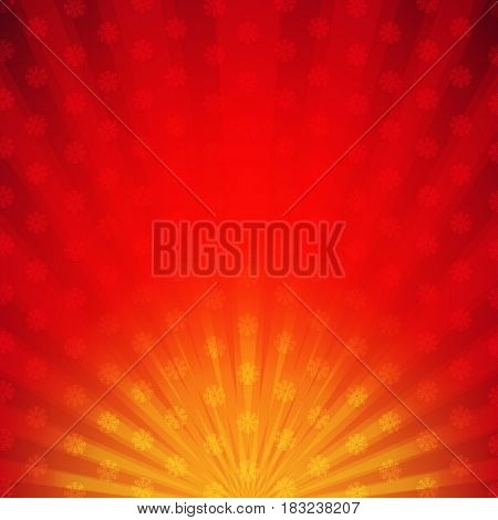 Red Sunburst Card