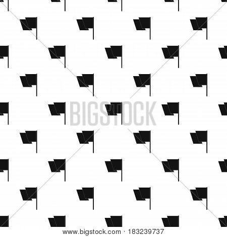 Flag pattern seamless in simple style vector illustration
