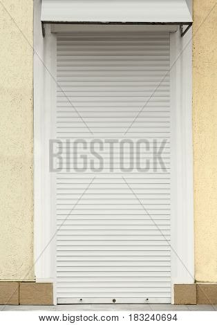 Door with roller shutters