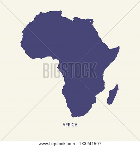 AFRICA MAP, MAP OF AFRICA ILLUSTRATION VECTOR