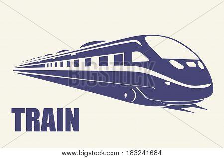 TRAIN railway transportation flat illustration simple vector