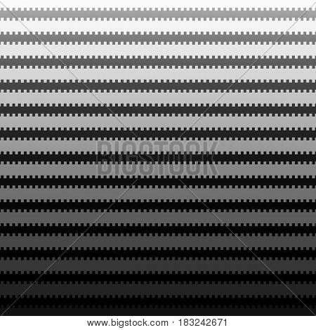 Abstract background. Vector illustration with cogged lines on black