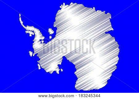 Antarctic map vector illustration , Antarctic ,