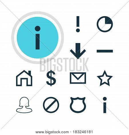 Vector Illustration Of 12 Member Icons. Editable Pack Of Alert, Letter, Stopwatch And Other Elements.