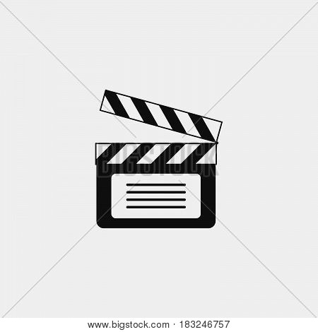 Clapperboard icon isolated on white background .