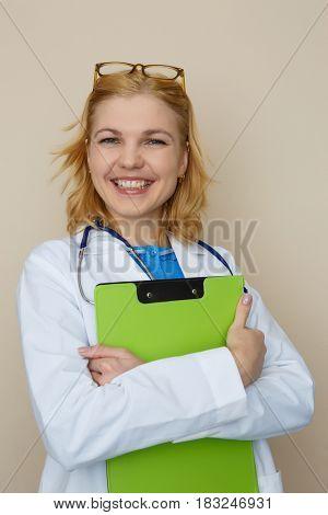 Photo of girl with phonendoscope
