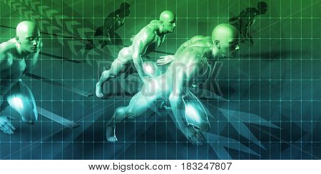 Company Vision and Goal as a Business Concept 3D Illustration Render