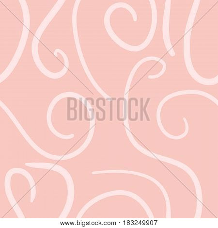 abstract vector colored swirls seamless pattern - pink