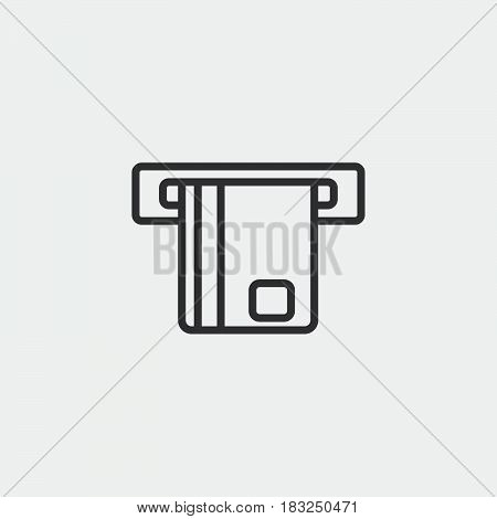 atm icon isolated on white background .