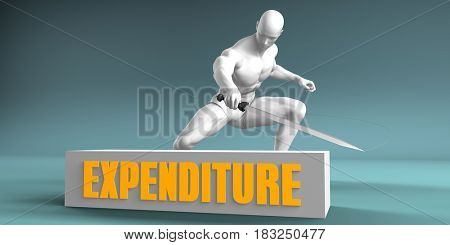 Cutting Expenditure and Cut or Reduce Concept 3D Illustration Render