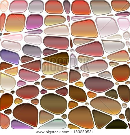 abstract vector stained-glass mosaic background - brown and gray