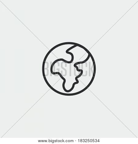 earth globe icon isolated on white background .