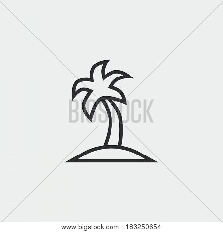 palm icon isolated on white background .