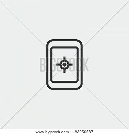 gps navigator icon isolated on white background .
