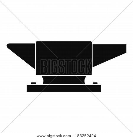 Anvil icon in simple style isolated on white background vector illustration