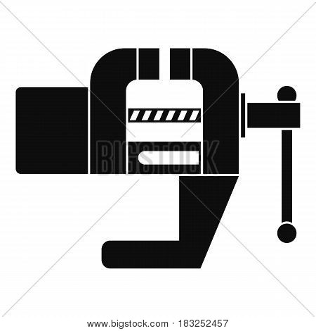 Vise tool icon in simple style isolated on white background vector illustration