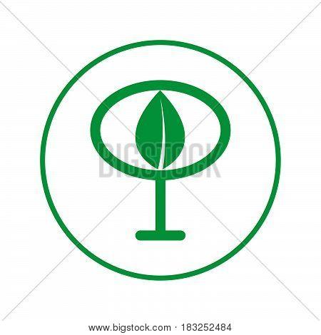 Tree circular line icon. Round sign. Flat style vector symbol