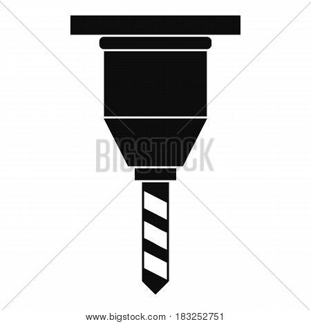 Drill bit icon in simple style isolated on white background vector illustration