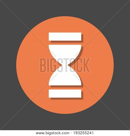 Time Hourglass flat icon. Round colorful button circular vector sign with shadow effect. Flat style design