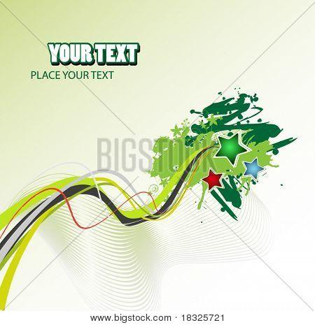 Grunge vector abstract design