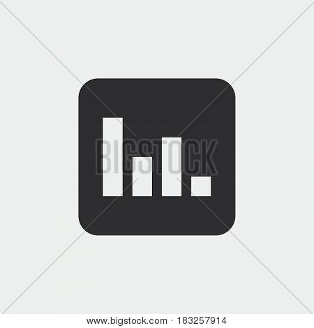 Poll icon isolated on white background .