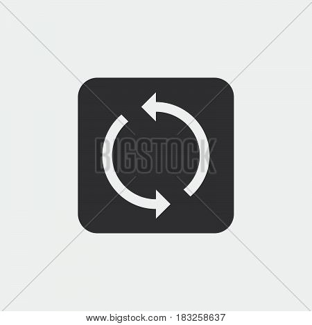 sync icon isolated on white background .