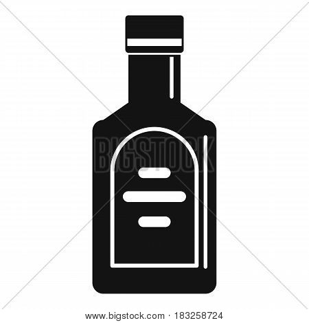 Bottle of whiskey icon in simple style isolated on white background vector illustration