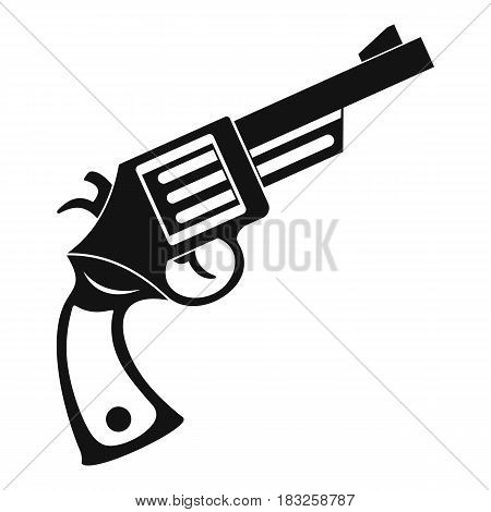 Vintage revolver icon in simple style isolated on white background vector illustration