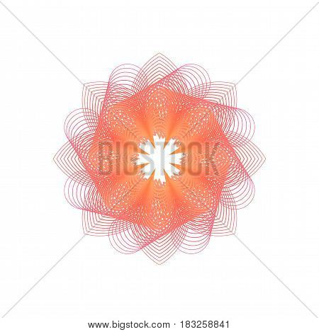 Abstract vector illuminated shape of particles array. Futuristic vector illustration. HUD element. Technology digital splash or explosion concept