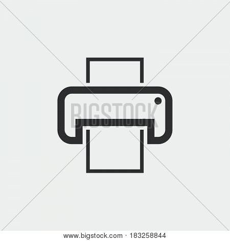 printer icon isolated on white background .