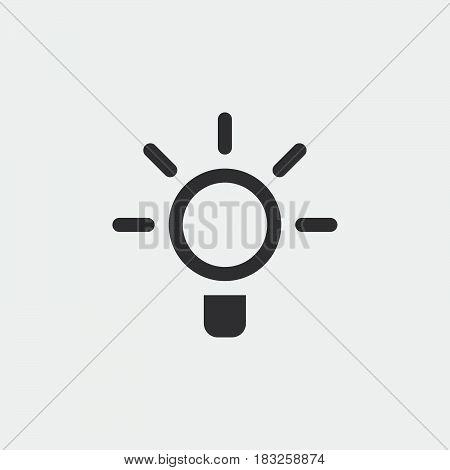 light bulb icon isolated on white background .
