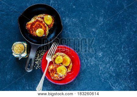 Pancakes With Caramelized Bananas