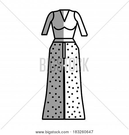 figure casual blouse and pants cloth style, vector illustration