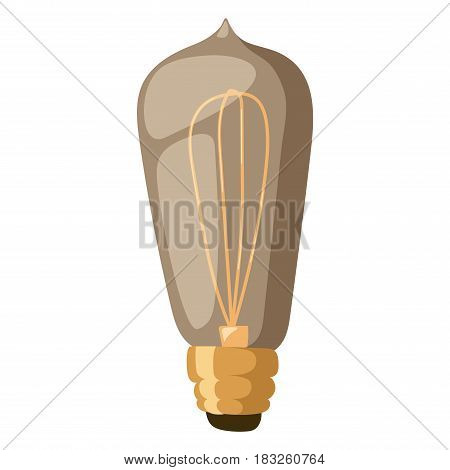 Old retro lamp vintage symbols light bulbs and old retro lamp. Edison old light bulbs. Vector sign, old retro lamp elements. Retro lamp electricity equipment design bulb decoration.