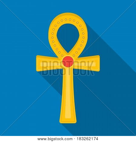 Ankh icon in flat style isolated on white background. Ancient Egypt symbol vector illustration.