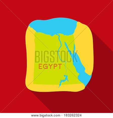 Territory of Egypt icon in flat style isolated on white background. Ancient Egypt symbol vector illustration.