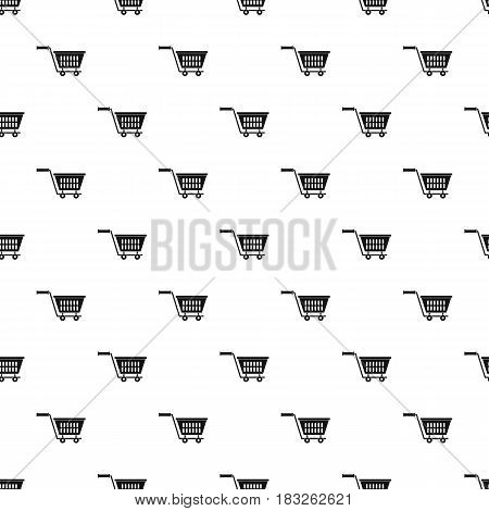Plastic shopping trolley pattern seamless in simple style vector illustration