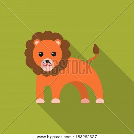 Lion flat icon. Illustration for web and mobile.