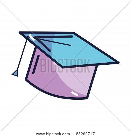 graduation cap tool to traditional ceremony, vector illustration