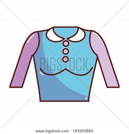 nice blouse cloth style, vector illustration design