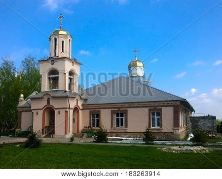 The building of a male monastery under construction in the city of Krivoy Rog in Ukraine