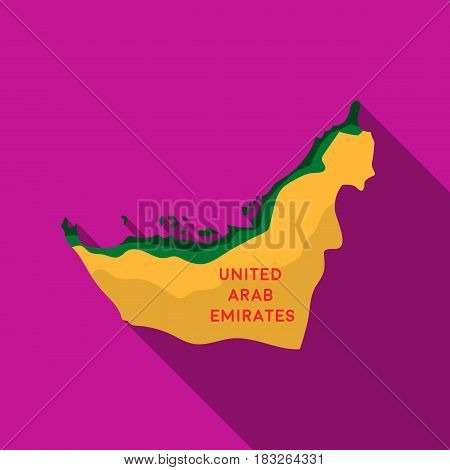 Territory of United Arab Emirates icon in flat style isolated on white background. Arab Emirates symbol vector illustration.