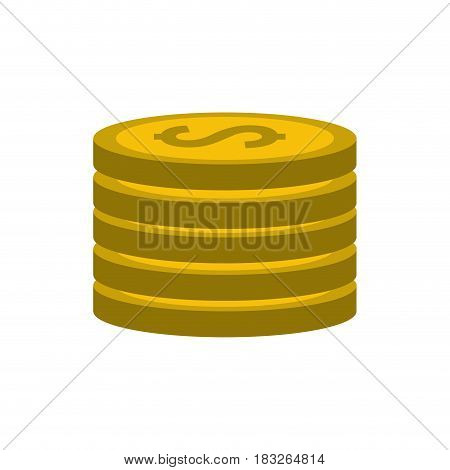 gold coins money save, vector illustration design