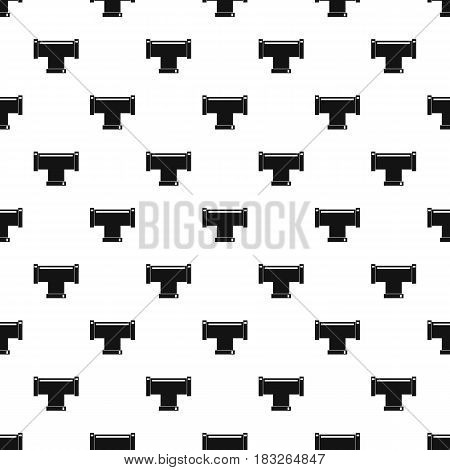 T pipe connection pattern seamless in simple style vector illustration