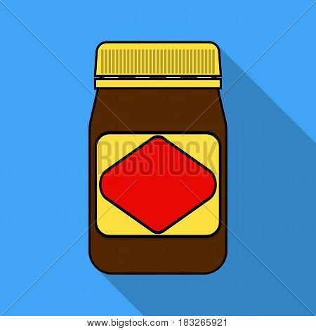 Australian food spread icon in flat design isolated on white background. Australia symbol stock vector illustration.
