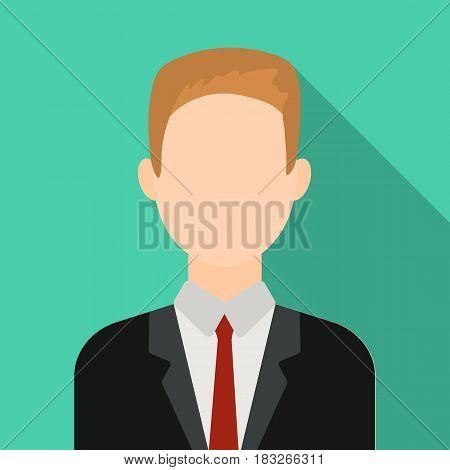 Businessman icon flat. Single avatar, peaople icon from the big avatar flat.