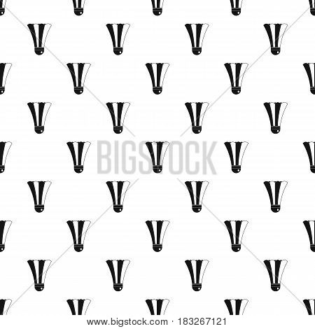 Black and white shuttlecock pattern seamless in simple style vector illustration