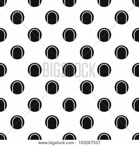 Black and white tennis ball pattern seamless in simple style vector illustration