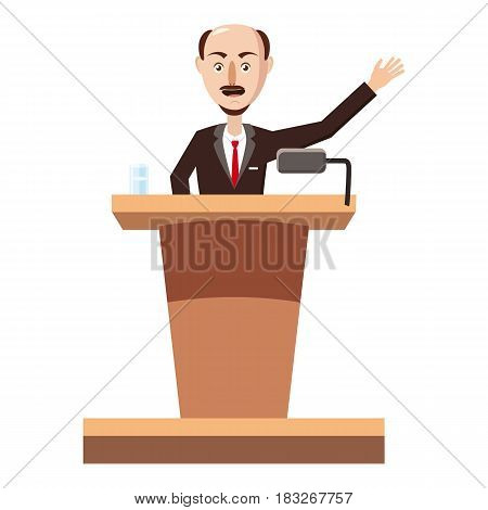 Speaker man icon. Cartoon illustration of speaker man vector icon for web