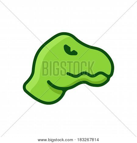 Dinosaur logo in flat design style. Dino simple symbol
